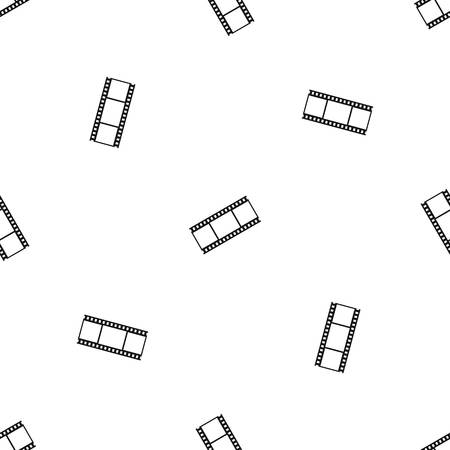 camera film: Film with frames pattern seamless black Illustration