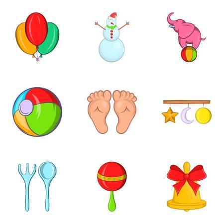 car wash: Tad icons set, cartoon style