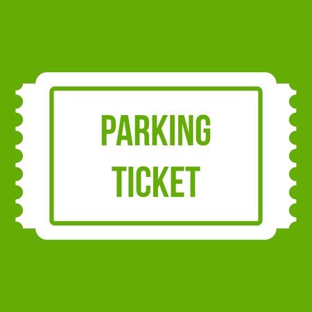 Icona del biglietto di parcheggio verde