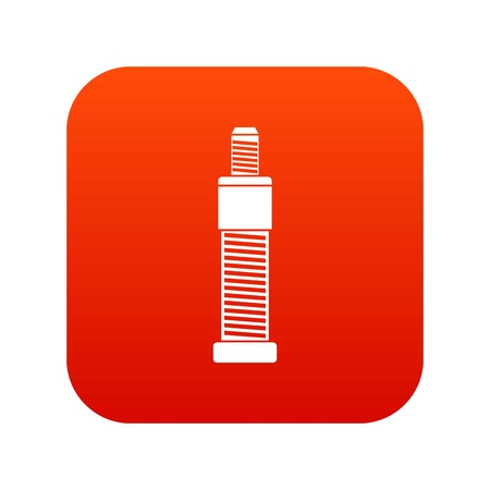 Screw and bolt icon digital red for any design isolated on white vector illustration