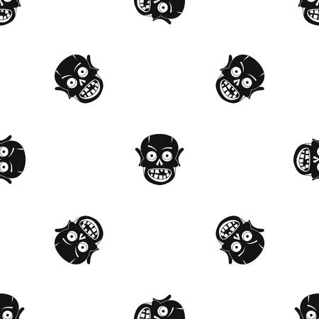 Living dead pattern repeat seamless in black color for any design. Vector geometric illustration Illustration