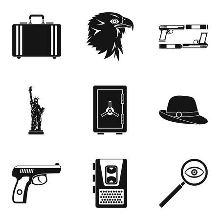 Aimed shot icons set. Simple set of 9 aimed shot vector icons for web isolated on white background