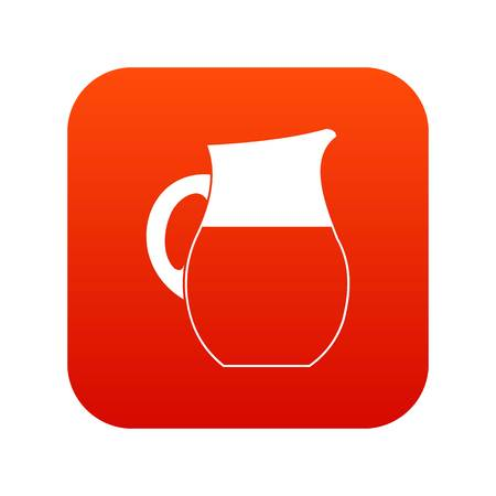 Pitcher of milk icon digital red for any design isolated on white vector illustration Illustration