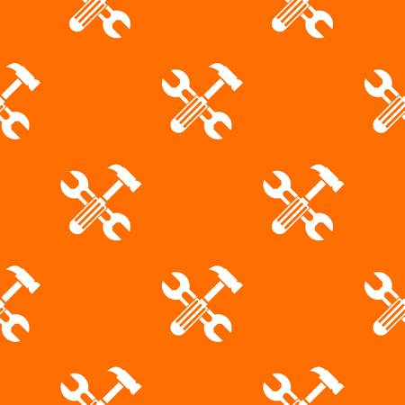 Hammer and screw wrench pattern seamless