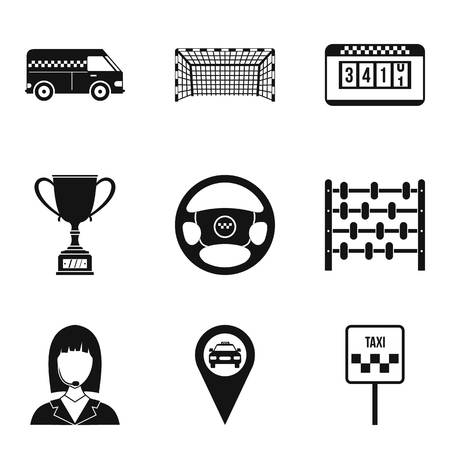 Chauffeur icons set. Simple set of 9 chauffeur vector icons for web isolated on white background