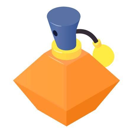 Bottle perfume icon, isometric 3d style