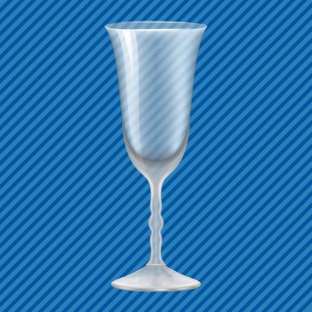 Tulip glass concept background. Realistic illustration of tulip glass vector concept background for web design Illustration
