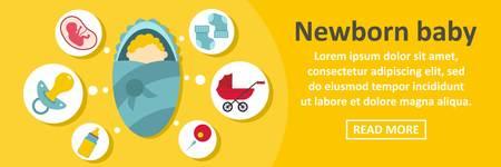 Newborn baby banner horizontal concept
