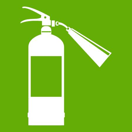 Fire extinguisher icon green Illustration