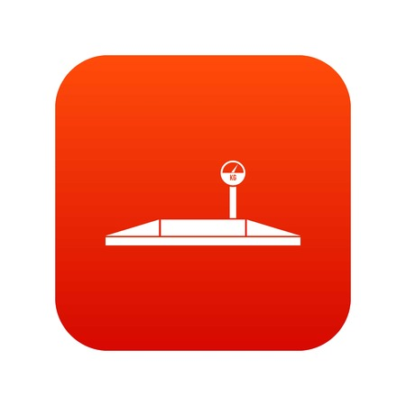 Parking scales icon digital red