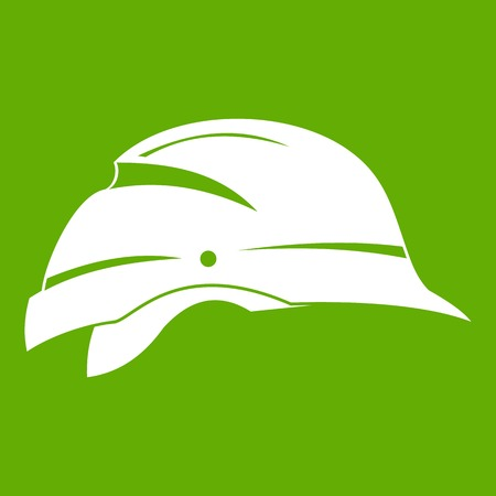 Hardhat icon green Illustration
