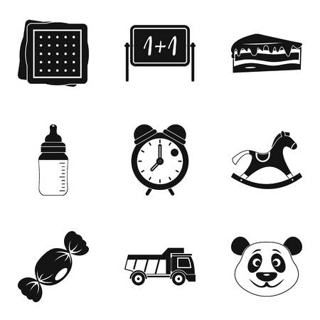 Crybaby icons set. Simple set of 9 crybaby vector icons for web isolated on white background Illustration
