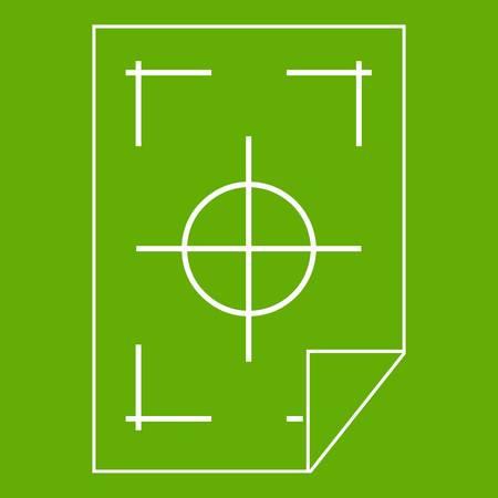 I segni della stampante su un'icona di carta verde Archivio Fotografico - 87206282