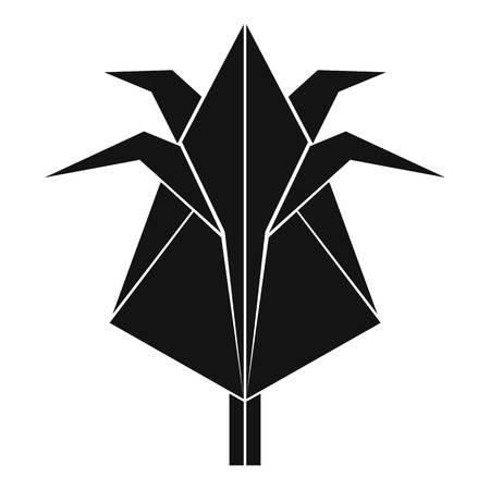 Origami flower icon simple black style royalty free cliparts origami flower icon simple black style stock vector 87206294 mightylinksfo