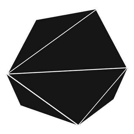 Origami stone icon