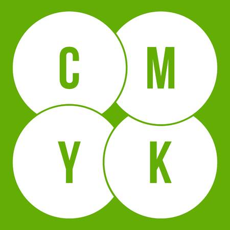 CMYK circles icon green