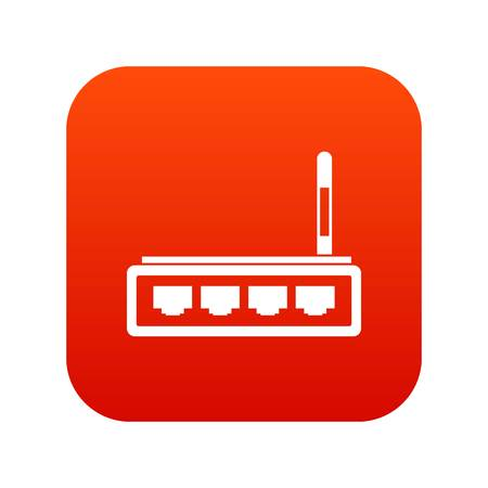 Router icon digital red