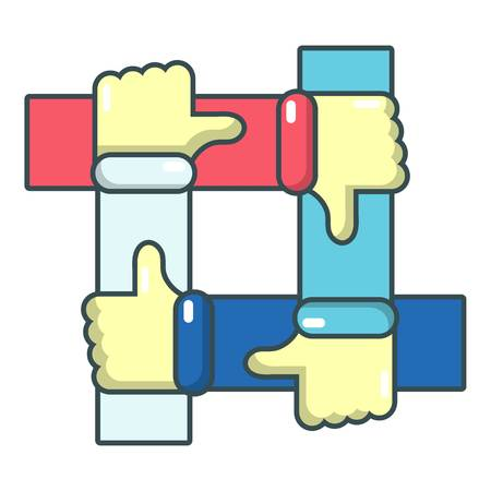 disapprove: Like icon. Cartoon illustration of like vector icon for web