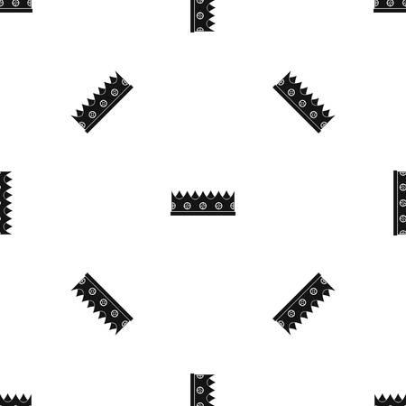 royal person: Little crown pattern seamless black Illustration
