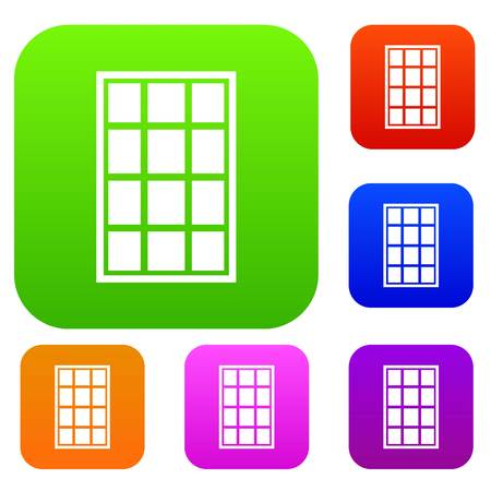 casement: White arched window set color collection