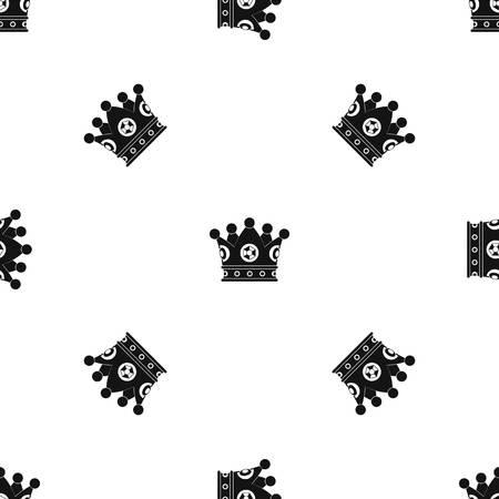 royal person: Spica pattern seamless black