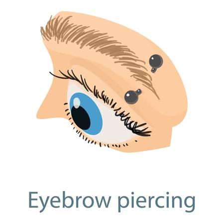 Eyebrow piercing icon. Isometric illustration of eyebrow piercing icon for web