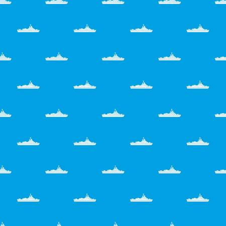 Warship pattern repeat seamless in blue color for any design. Vector geometric illustration Illustration