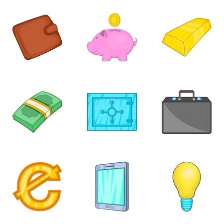 Graft icons set. Cartoon set of 9 graft vector icons for web isolated on white background Illustration
