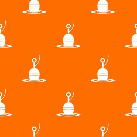 fishhook: Floating bobber pattern repeat seamless in orange color for any design. Vector geometric illustration Illustration