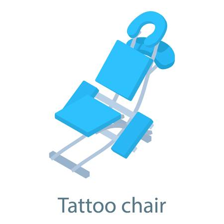 lying in bed: Tattoo chair icon. Isometric illustration of tattoo chair icon for web