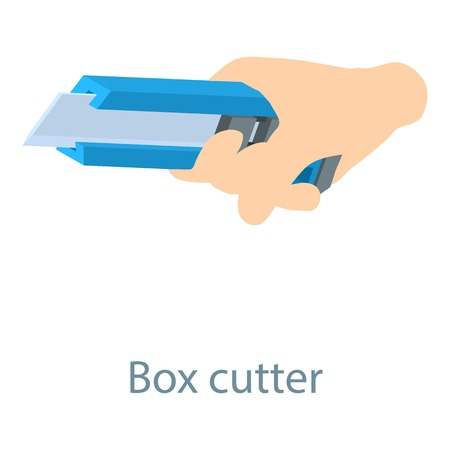 convenient: Stationery knife icon. Isometric illustration of stationery knife icon for web