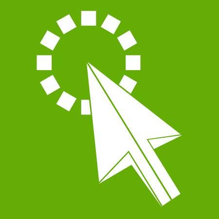 Haga clic en el icono verde Ilustración de vector