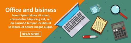 Office and business banner horizontal concept