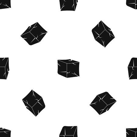Ice pattern seamless black