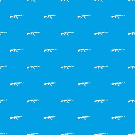 Military rifle pattern seamless blue Illustration