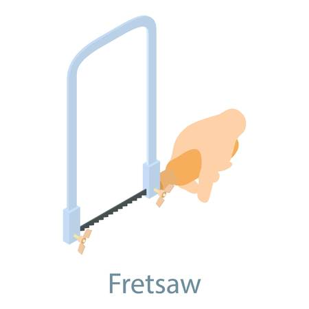 Fletsaw icon, isometric 3d style