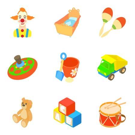 Bauble icons set, cartoon style