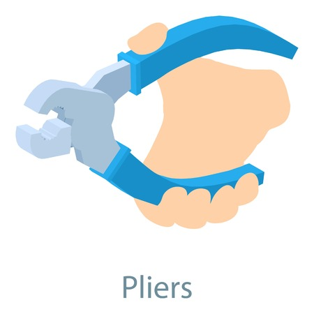 Pliers icon. Isometric illustration of pliers icon for web Illustration