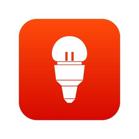Reflector bulb icon digital red