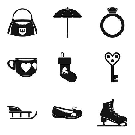Conviviality icons set, simple style Illustration