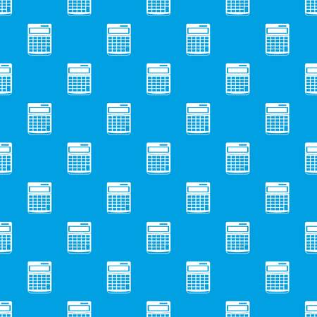 electronic background: Calculator pattern seamless blue Illustration