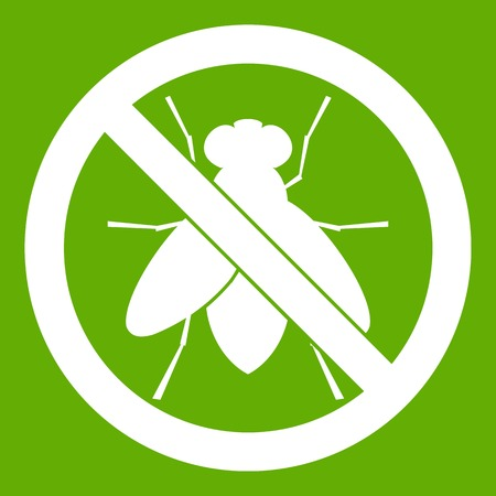 poison sign: No fly sign icon green