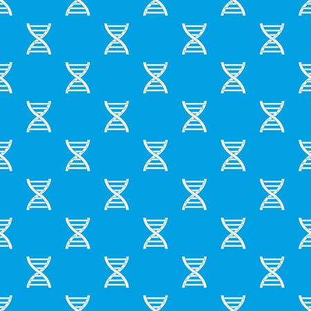 human evolution: DNA pattern repeat seamless in blue color for any design. Vector geometric illustration