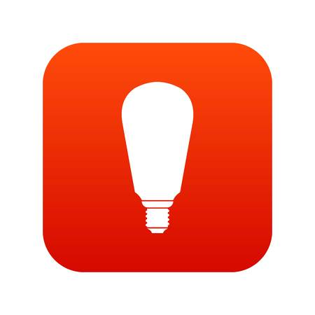 Light bulb icon digital red for any design isolated on white vector illustration Illustration