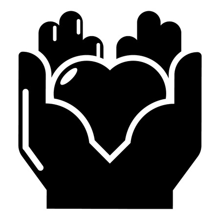 family isolated: Hand heart icon. Simple illustration of hand heart vector icon for web Illustration