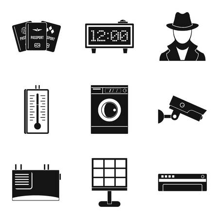 Candid camera icons set. Simple set of 9 candid camera vector icons for web isolated on white background Иллюстрация
