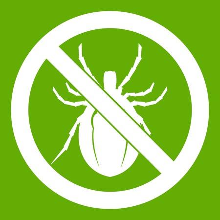 poison sign: No bug sign icon green