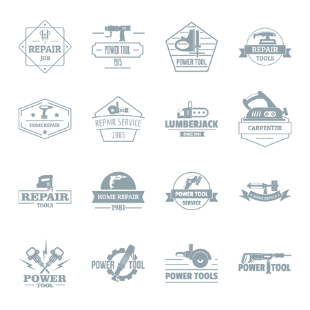 dryer: Electric tools icons set. Simple illustration of 16 electric tools vector icons for web