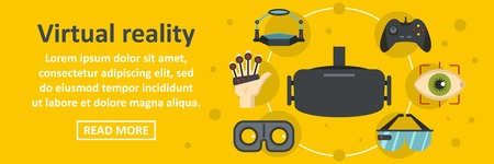 Virtual reality banner horizontal concept