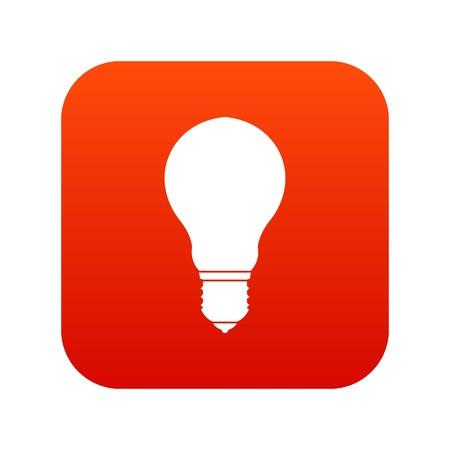 Light bulb icon digital red